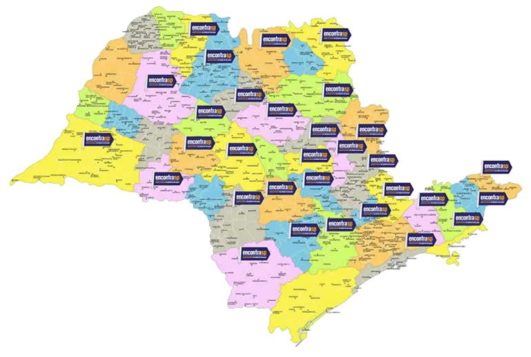 Mapa do Estado de São Paulo