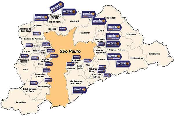 Mapa da Grande São Paulo