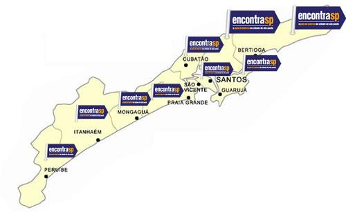 Mapa da Região Metropolitana da Baixada Santista